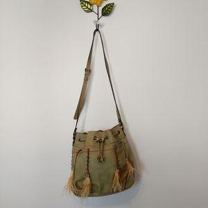 Patricia Nash Picerno Draw String Leather Bag